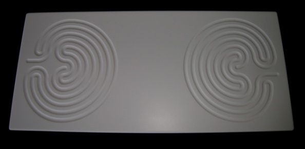 Large double White Corian Labyrinth Board